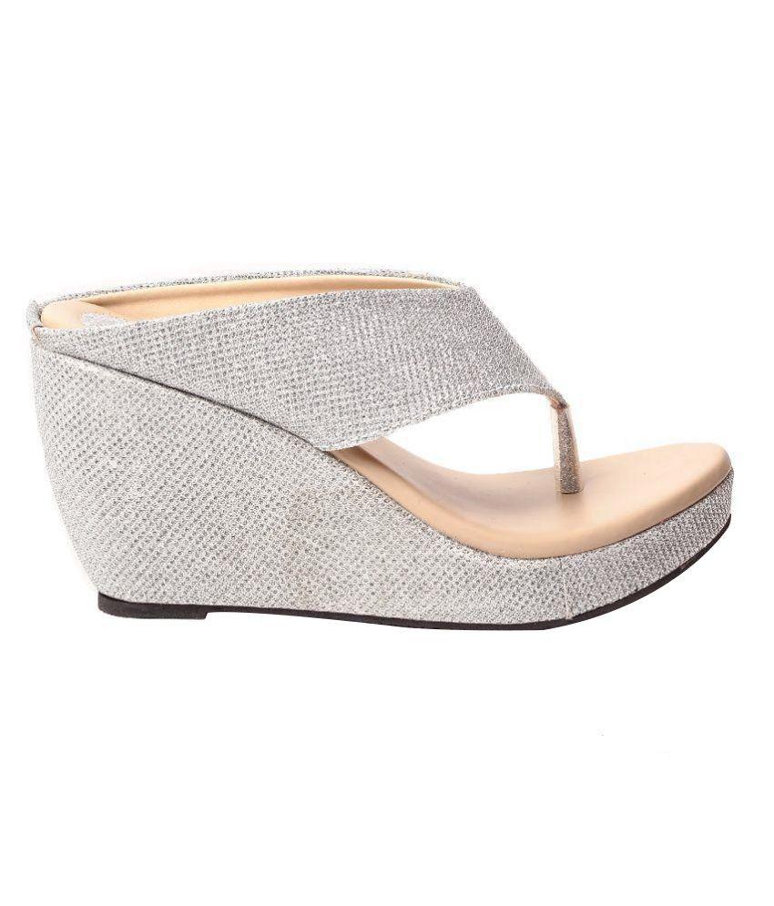 2015 for sale Hansx Silver Wedges Heels find great sale online outlet factory outlet pick a best rcOY133m