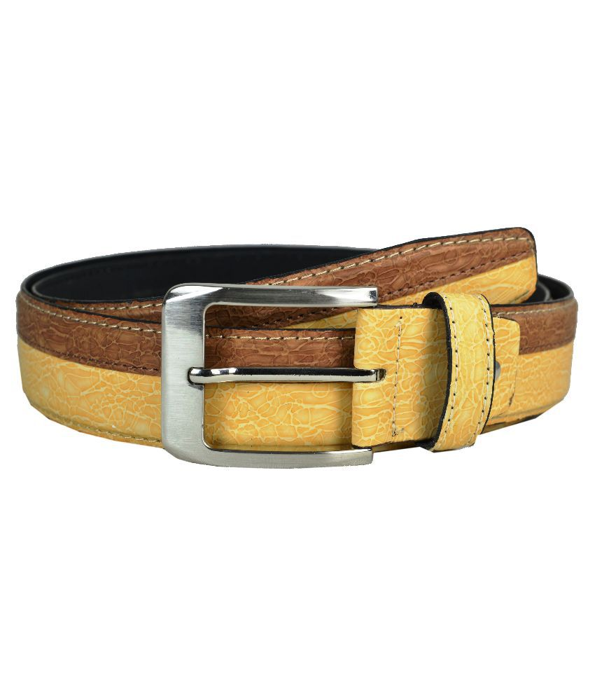 Opaque Multicolour Leatherite Casual Belt for Men