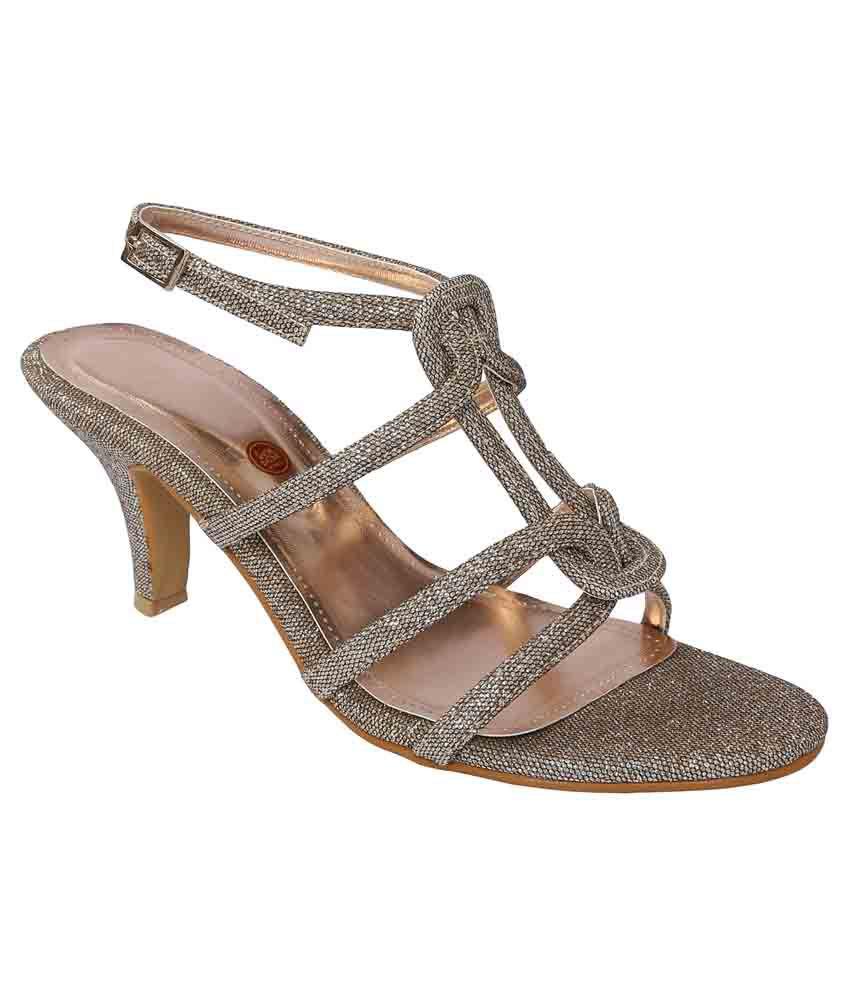 Shoe Bazar Beige Stiletto Heels