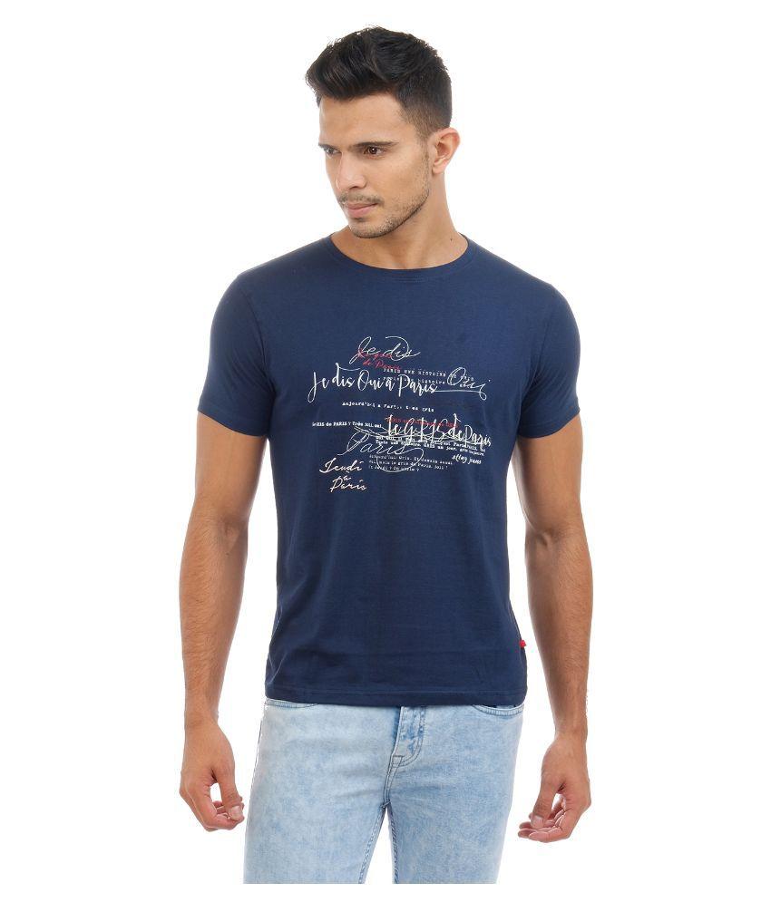 Sting Navy Round T Shirt