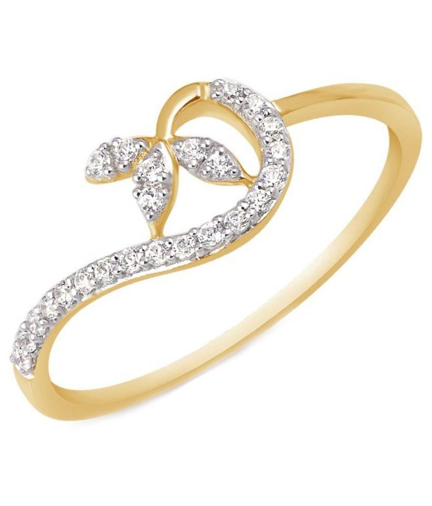 Kama Jewellery 18Kt Gold BIS Hallmarked Ring