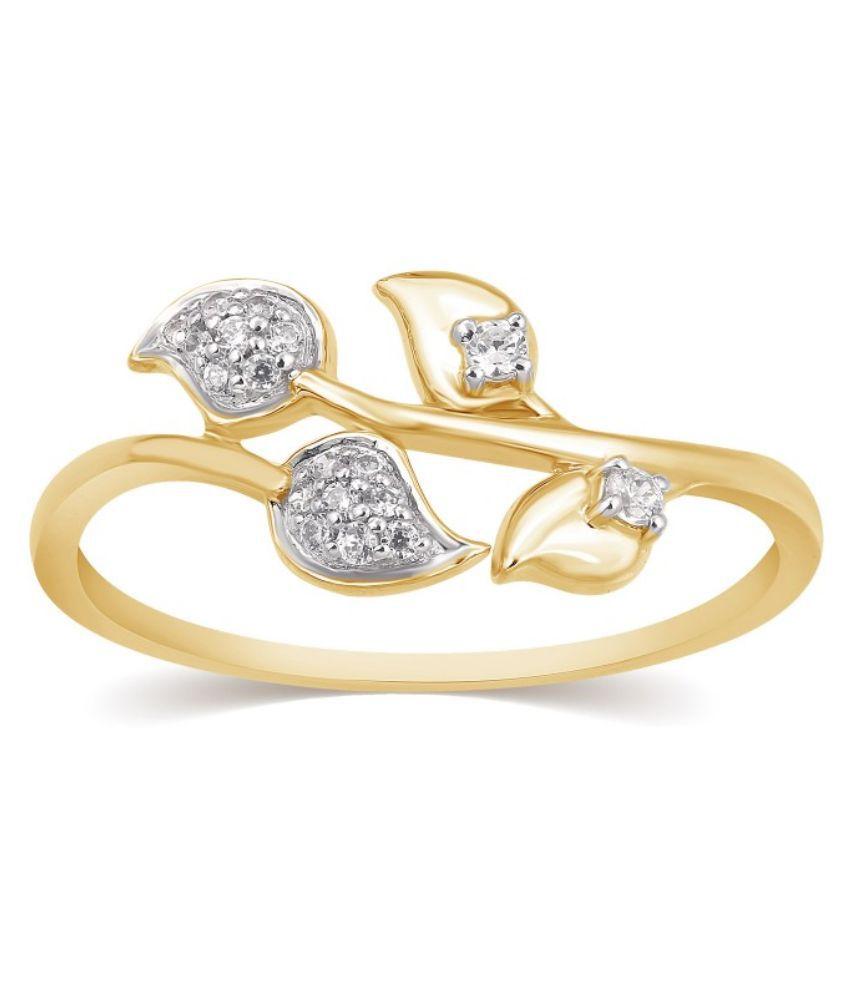 Kama Jewellery BIS Hallmarked 18kt Gold Diamond Ring