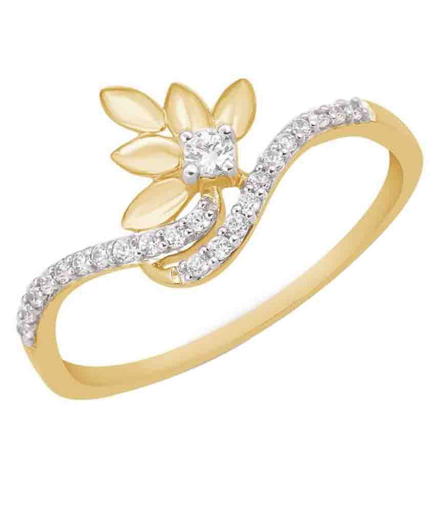 Kama Jewellery Tasmin 18Kt Yellow Gold Diamond Ring