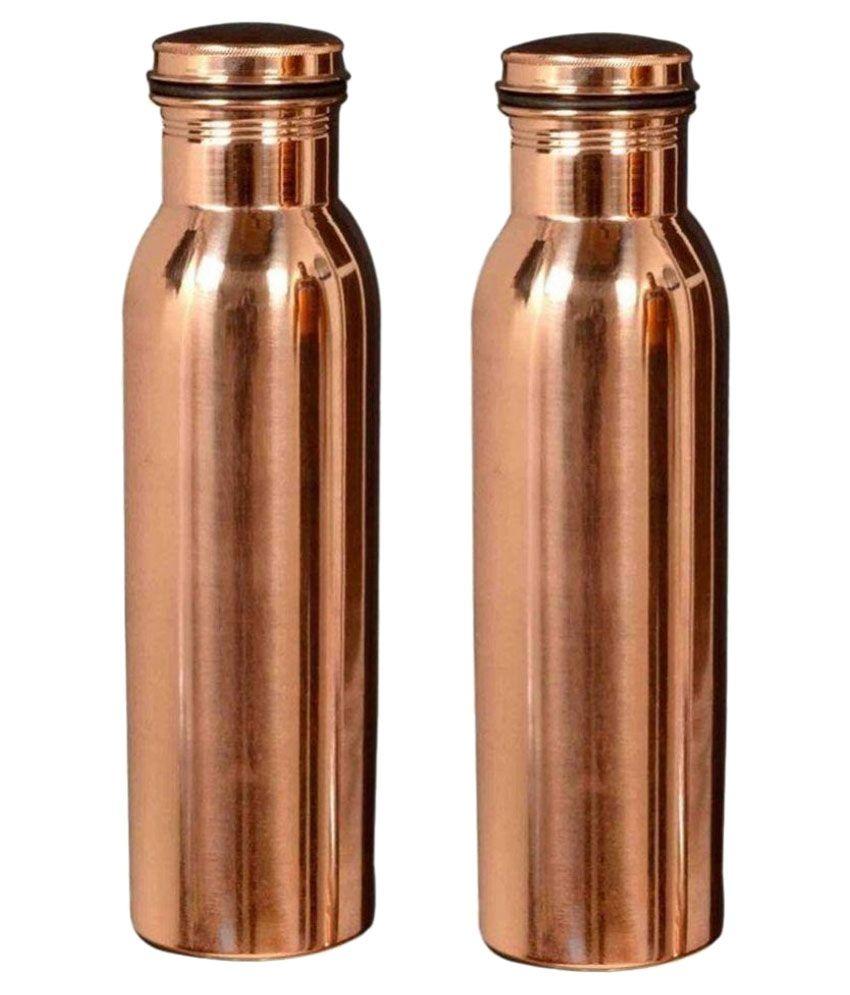 Nayra Copper Brown Watter Bottle 1000 Ml Set Of 2 Buy