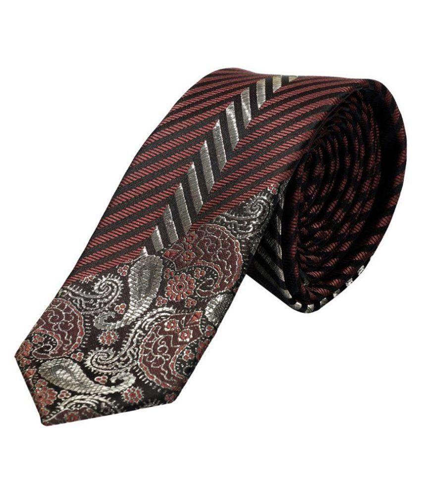 OSF Brown Micro Fiber Thin Tie