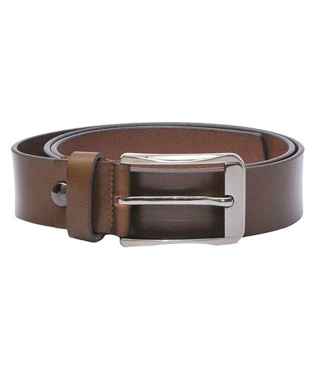 Readybee Brown Leather Belt for Men