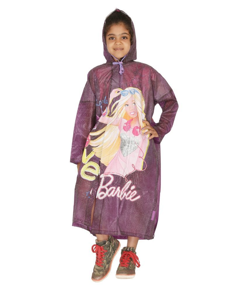 Zeel Purple Viscose Rainwear