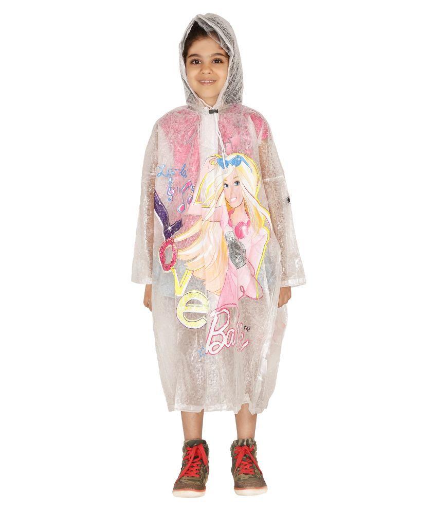 Zeel White Viscose Rainwear