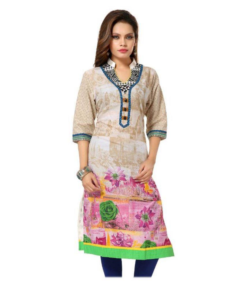 Arch Multicoloured Cotton Straight Kurti
