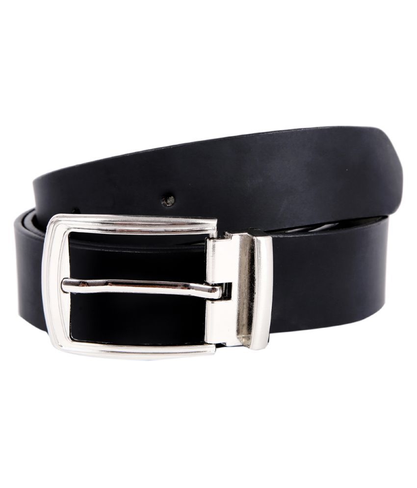 Hardy's Collection Black Leather Belt For Men