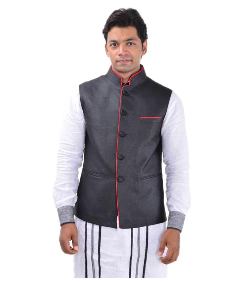 MD Fashion Black Party Waistcoats