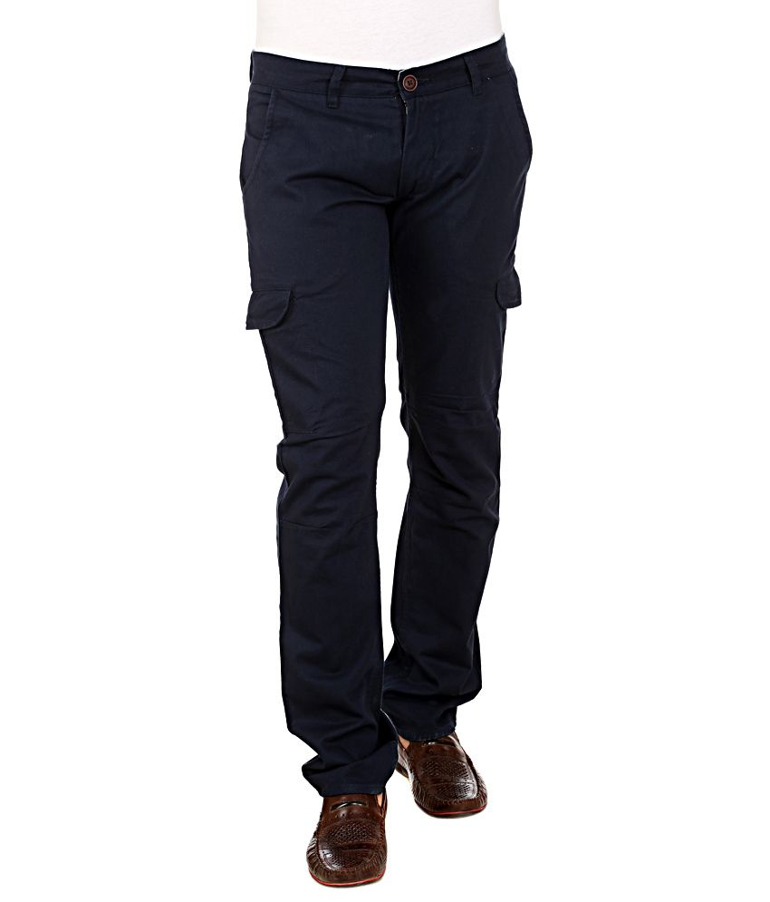 Red Tape Navy Slim Fit Cargos