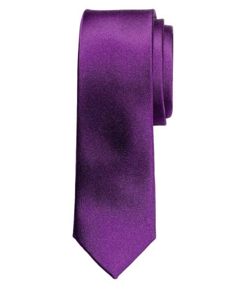 Bestellan Purple Silk Formal Narrow Tie
