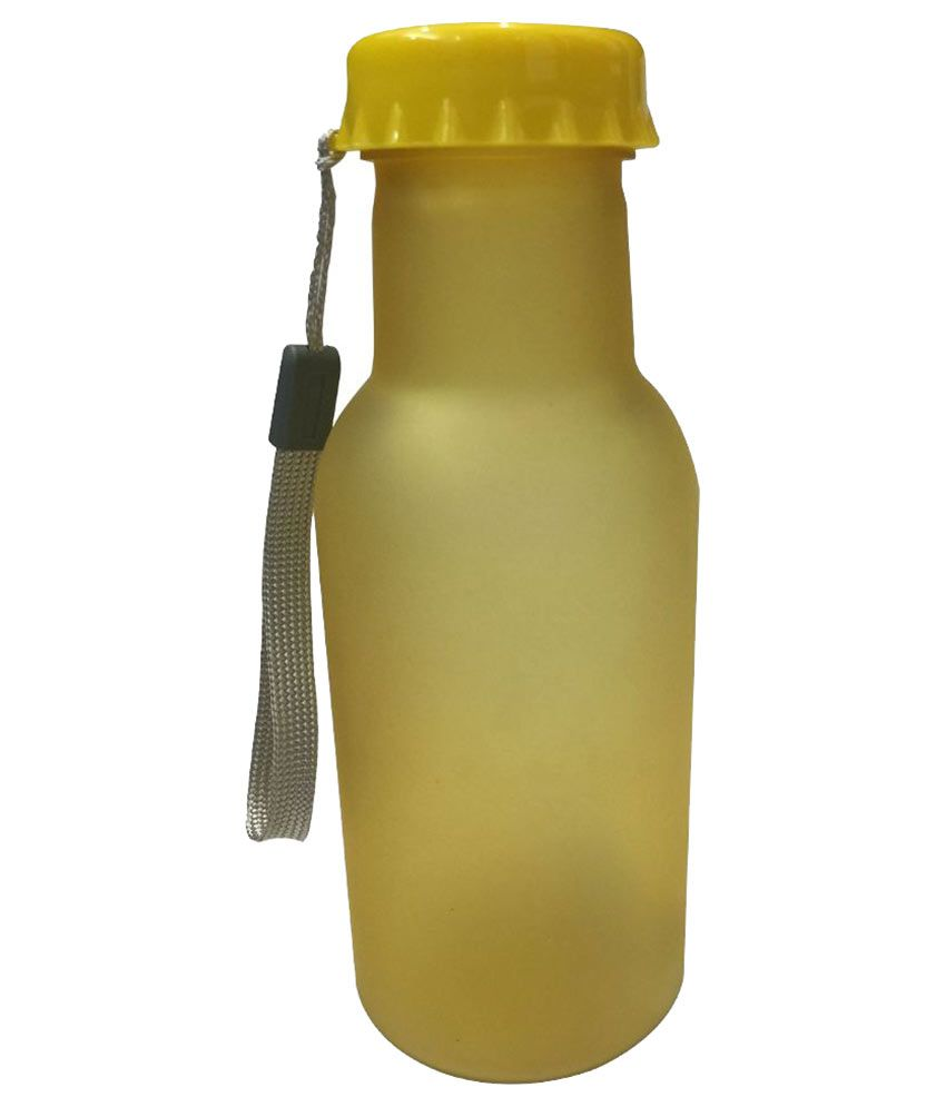 EZ Life Frosted Drinking Bottle - Yellow