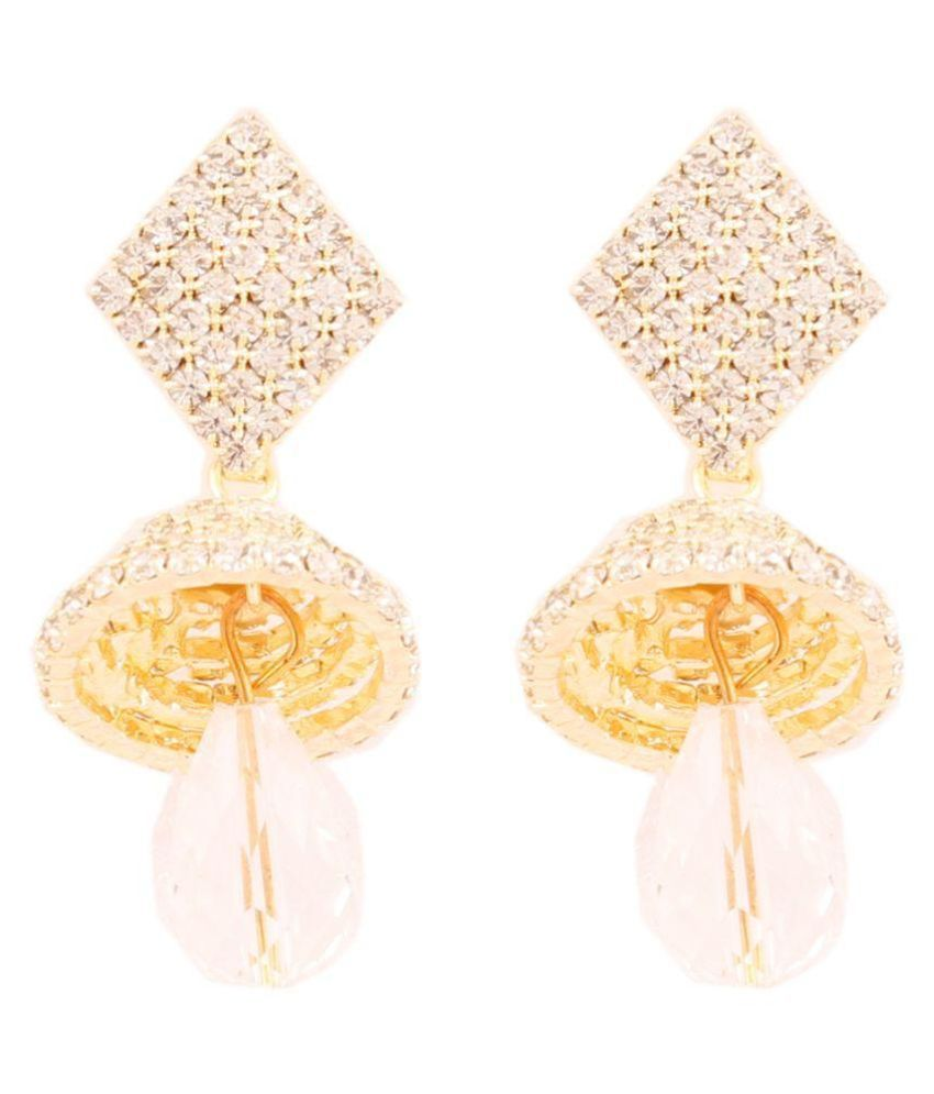 Grace Jewels Golden Alloy Drop Earrings