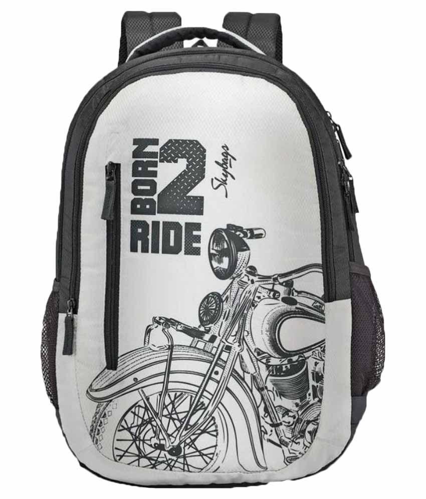 d263e3e3d43e Skybags White Polyester School Bag - Buy Skybags White Polyester School Bag  Online at Low Price - Snapdeal