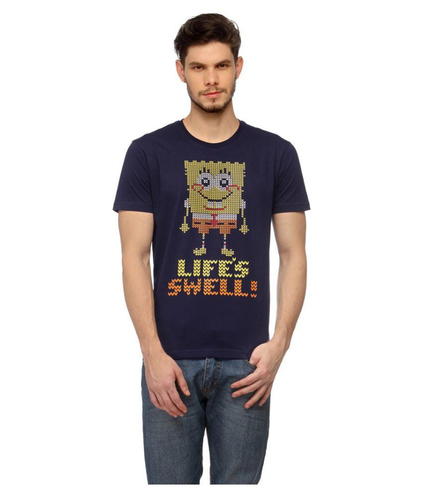 Slingshot Blue Round T Shirt