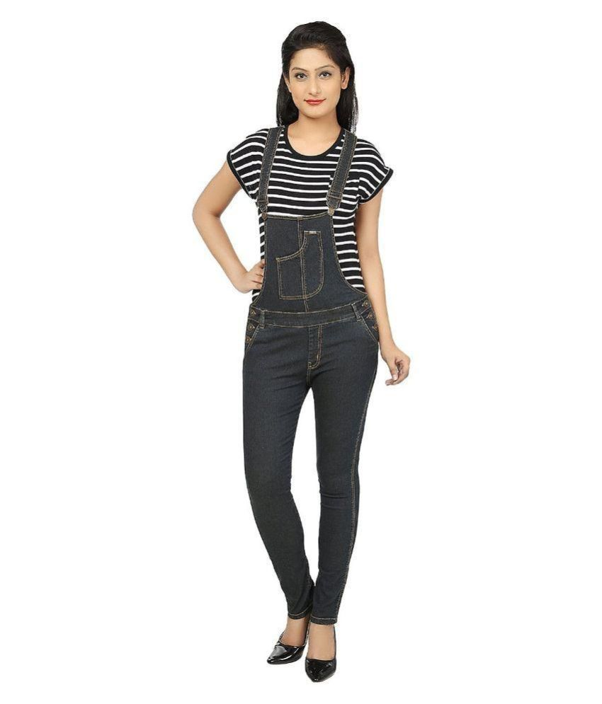 Buy Ursense Black Denim Dungarees Online at Best Prices in India - Snapdeal 3c334e94b