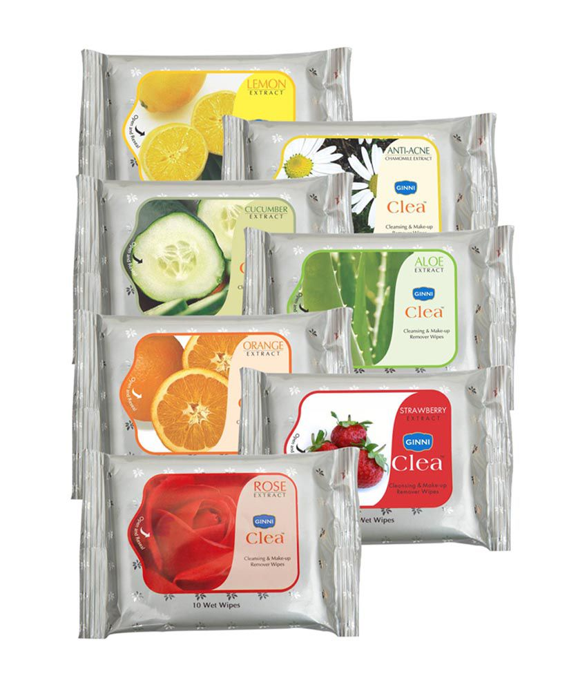 Ginni Refreshing & Facial Wipes -Pack of 7 (10 wipes per pack)