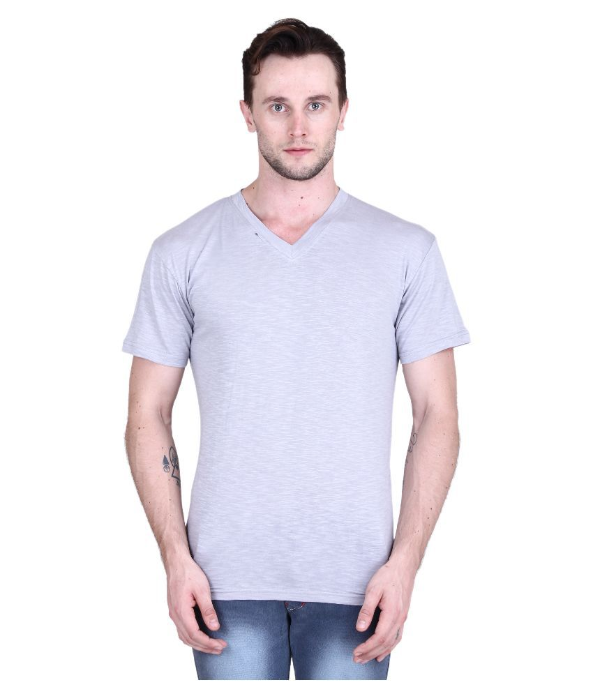 Piccolo Clothings Purple V-Neck T Shirt
