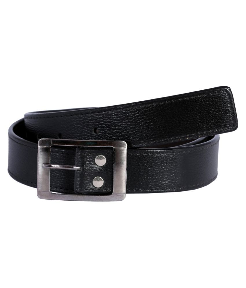 Kritika World Black Pin Buckle Belt for Men