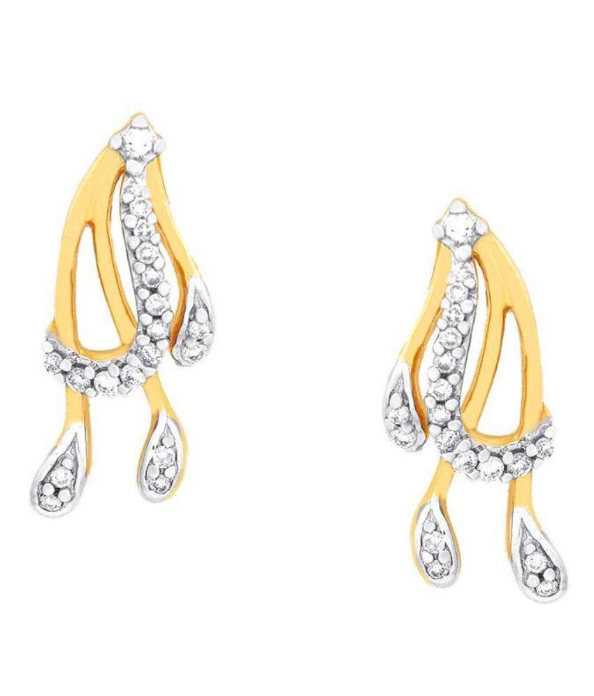 Asmi 18kt Yellow Gold Diamond Studs