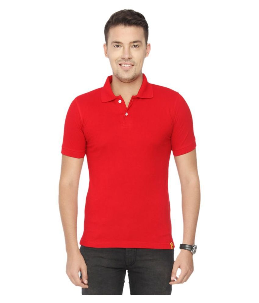 CONCEPTS Red Cotton Polo T-Shirt