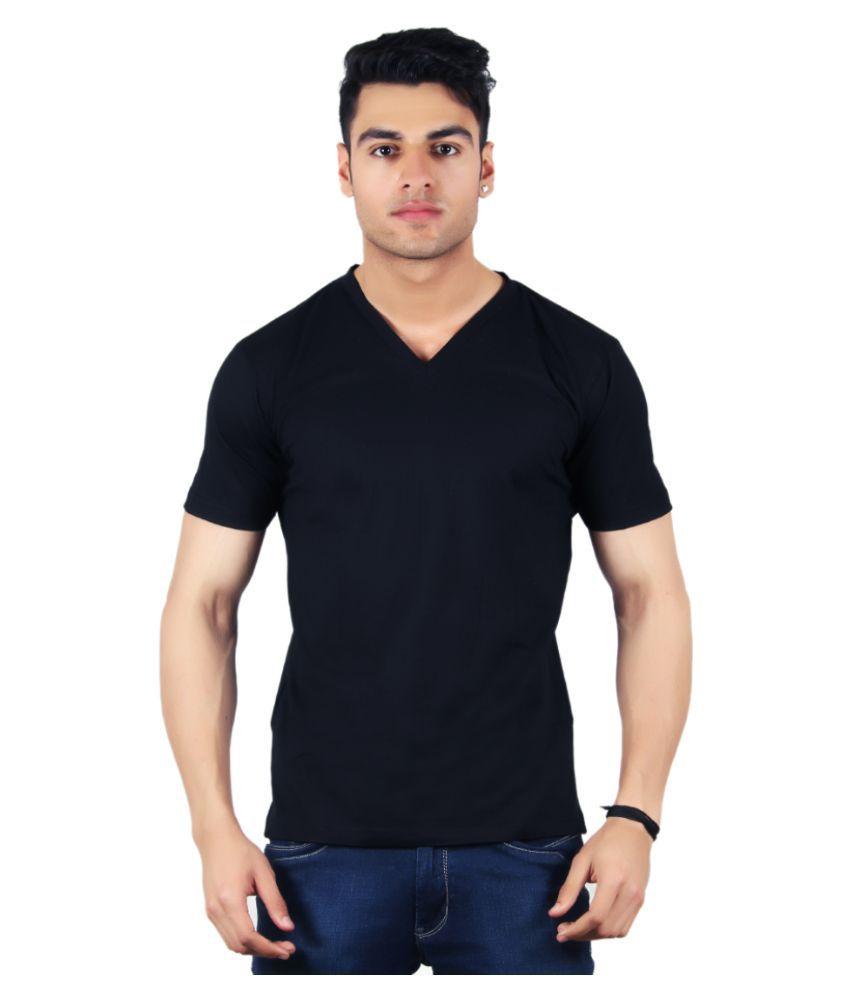 Diaz Black V-Neck T Shirt