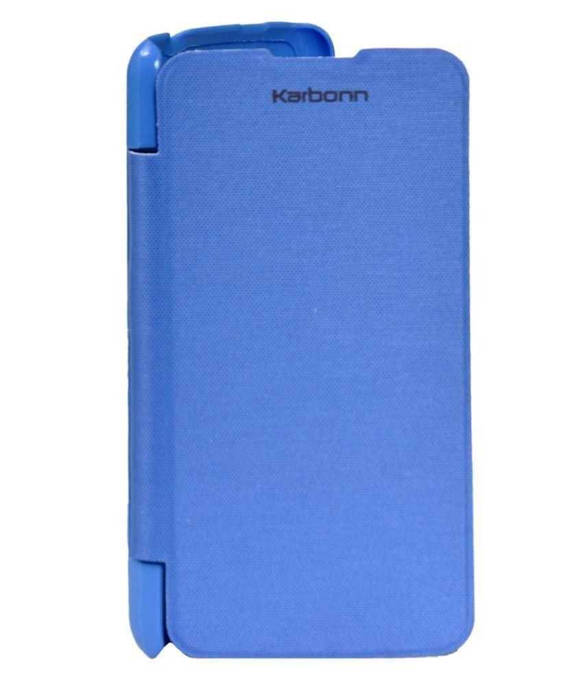 Karbonn Titanium S5 Plus Flip Cover by HNY'S - Blue - Flip ...