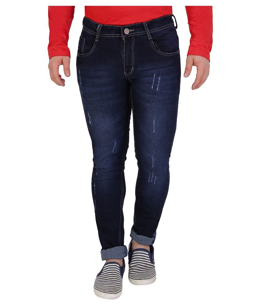 Sciocco Blue Slim Fit Washed Jeans