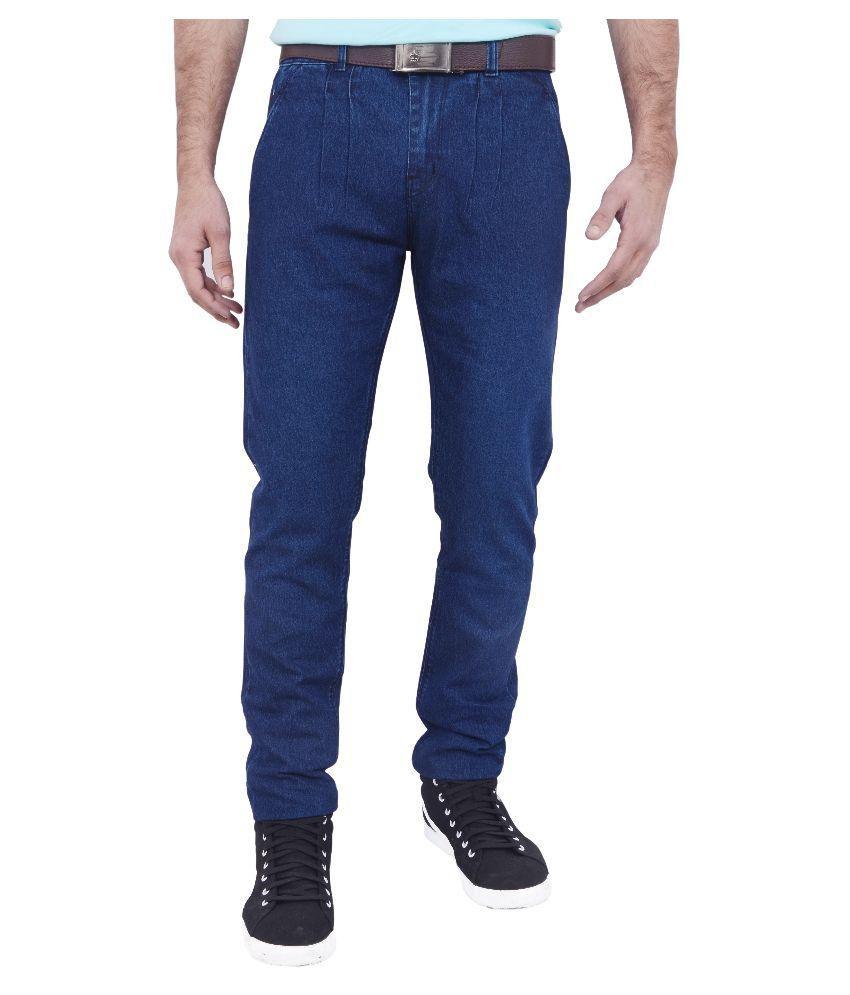 Hartmann Blue Slim Fit Distressed Jeans Dark Blue And Mild Blue Denim