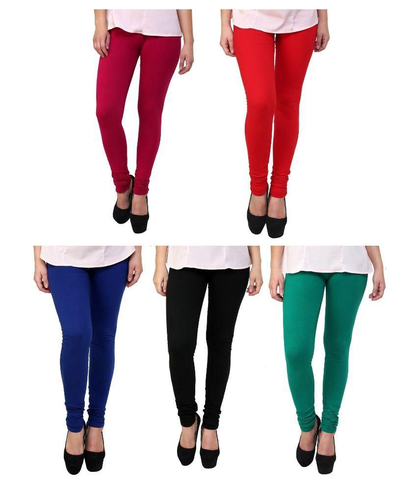 fb9f99f749a42 Stylobby Multicoloured Cotton Lycra Leggings Price in India - Buy Stylobby  Multicoloured Cotton Lycra Leggings Online at Snapdeal