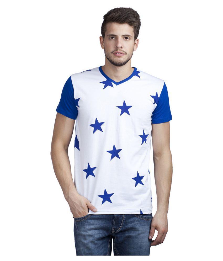 Trendy Bandey White V-Neck T Shirt