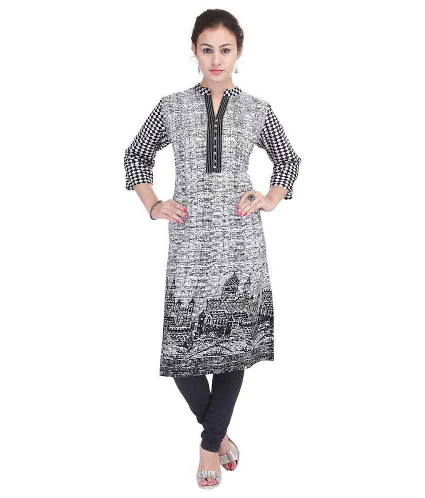 Swadesh Multicoloured Cotton Straight Kurti