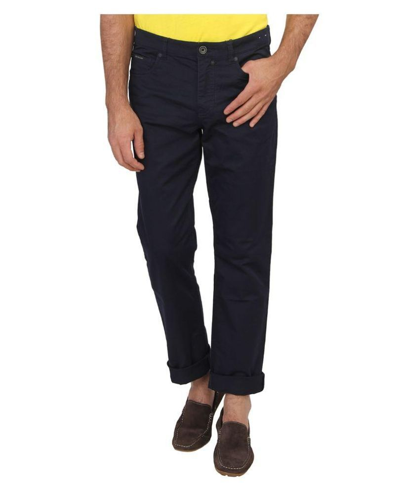Calvin Klein Navy Slim Fit Solid Jeans