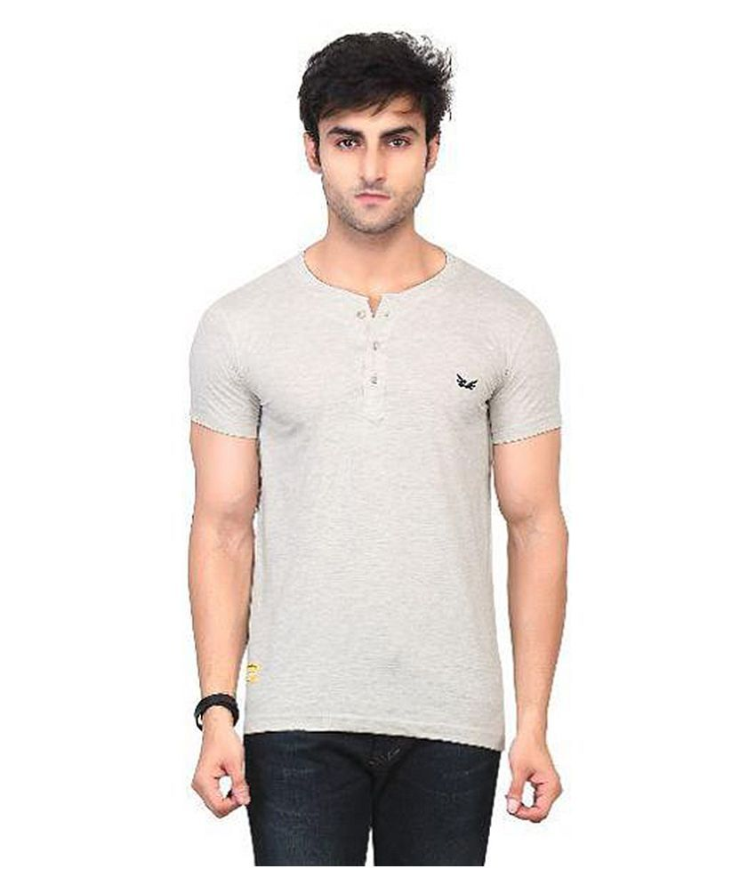 Kkoir Grey Henley T Shirt