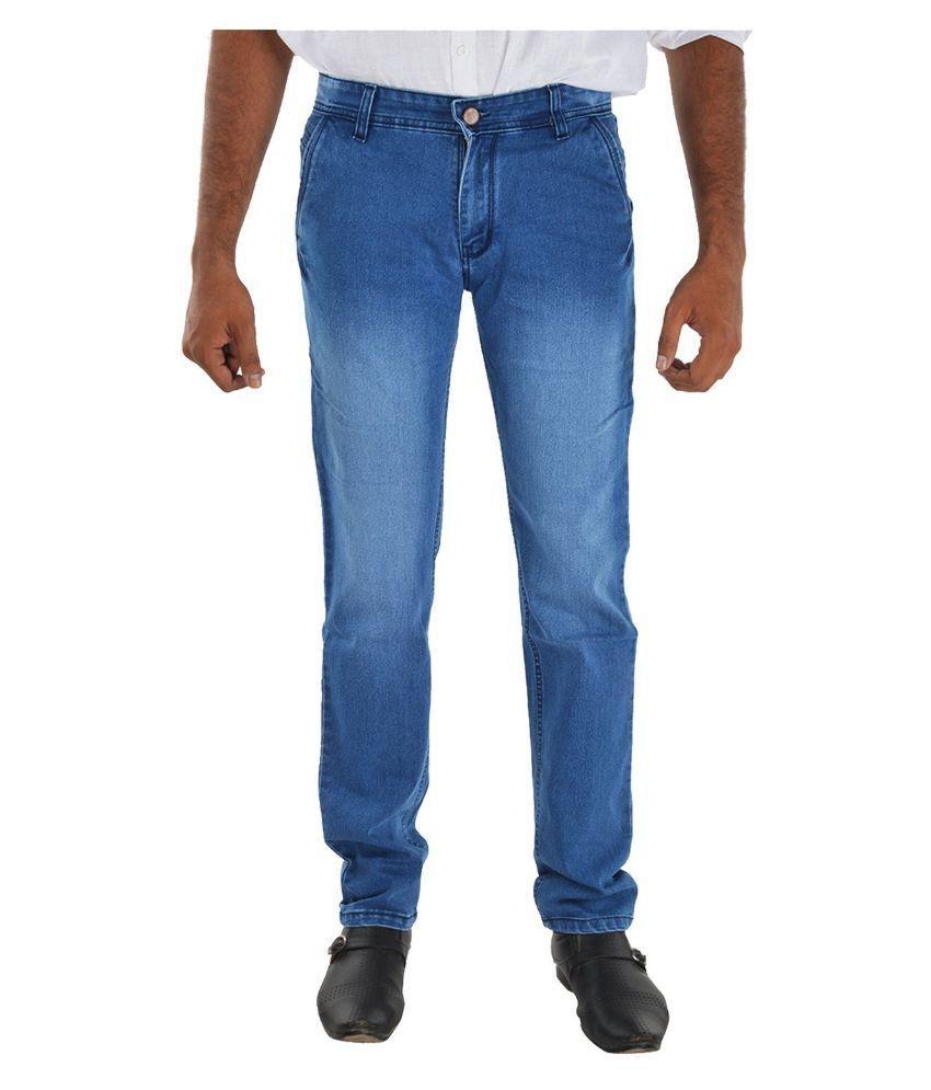 Siz Fahion Blue Regular Fit Washed Jeans