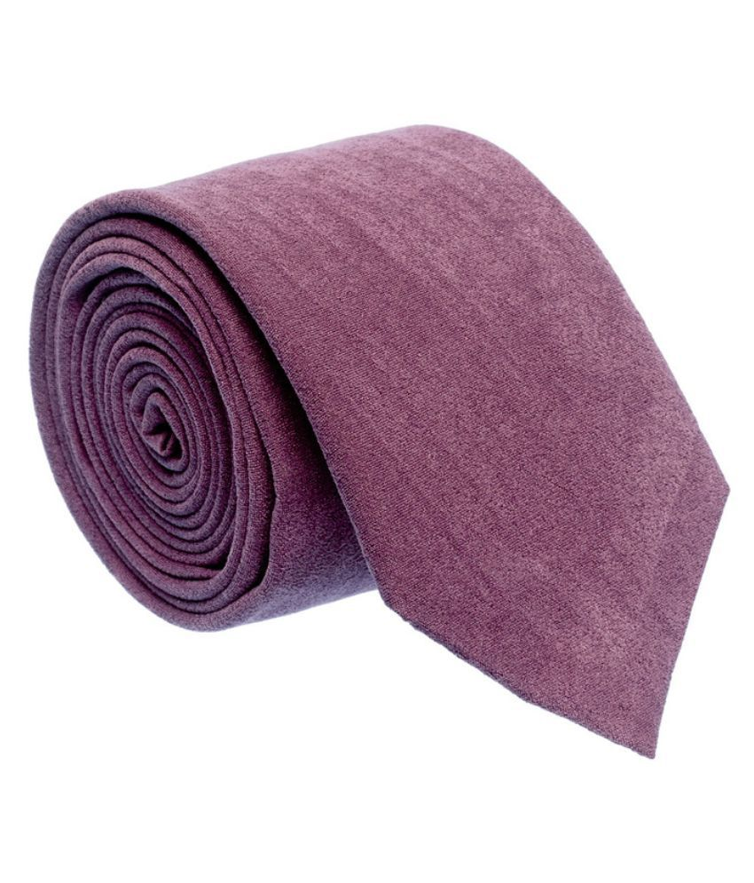 The Tie Hub Purple Micro Fiber Broad Tie