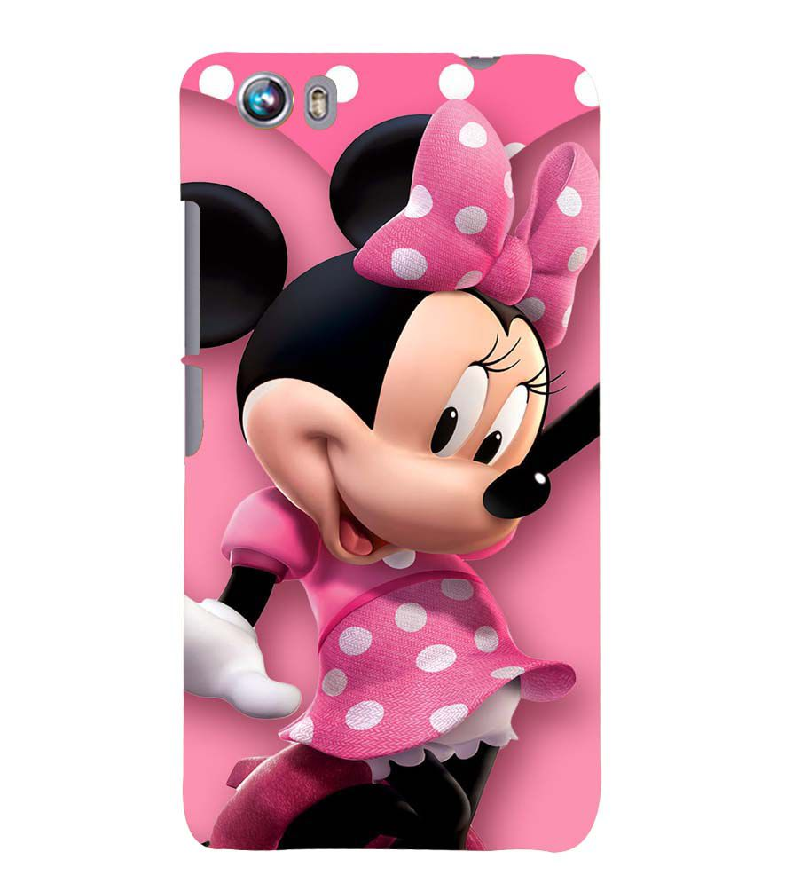 new styles 11068 5af68 Printvisa Polka Dot Pink Mickey Mouse Back Case Cover for Micromax Canvas  Fire 4 A107