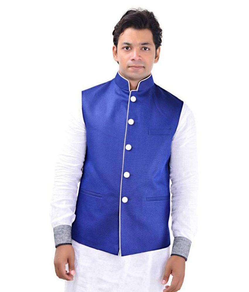 MD Fashion Blue Casual Waistcoat