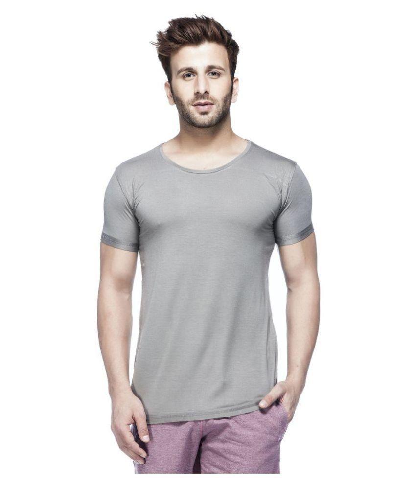 Tinted Grey Round T Shirt