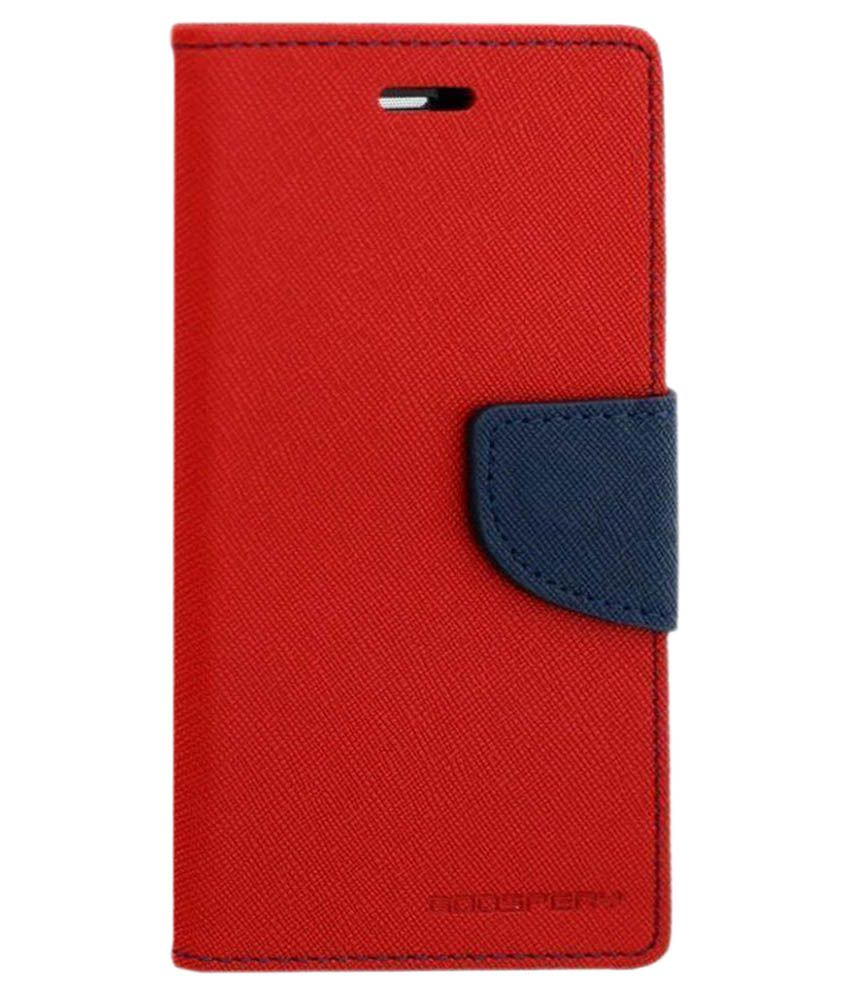 the latest 32dbf d4548 Micromax Unite 3 Q372 Flip Cover by PTS - Red
