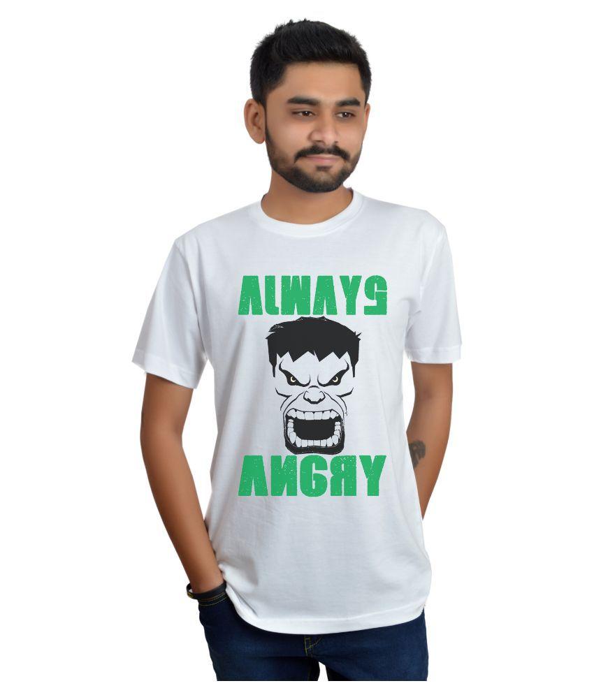 Swag Theory White Round T Shirt
