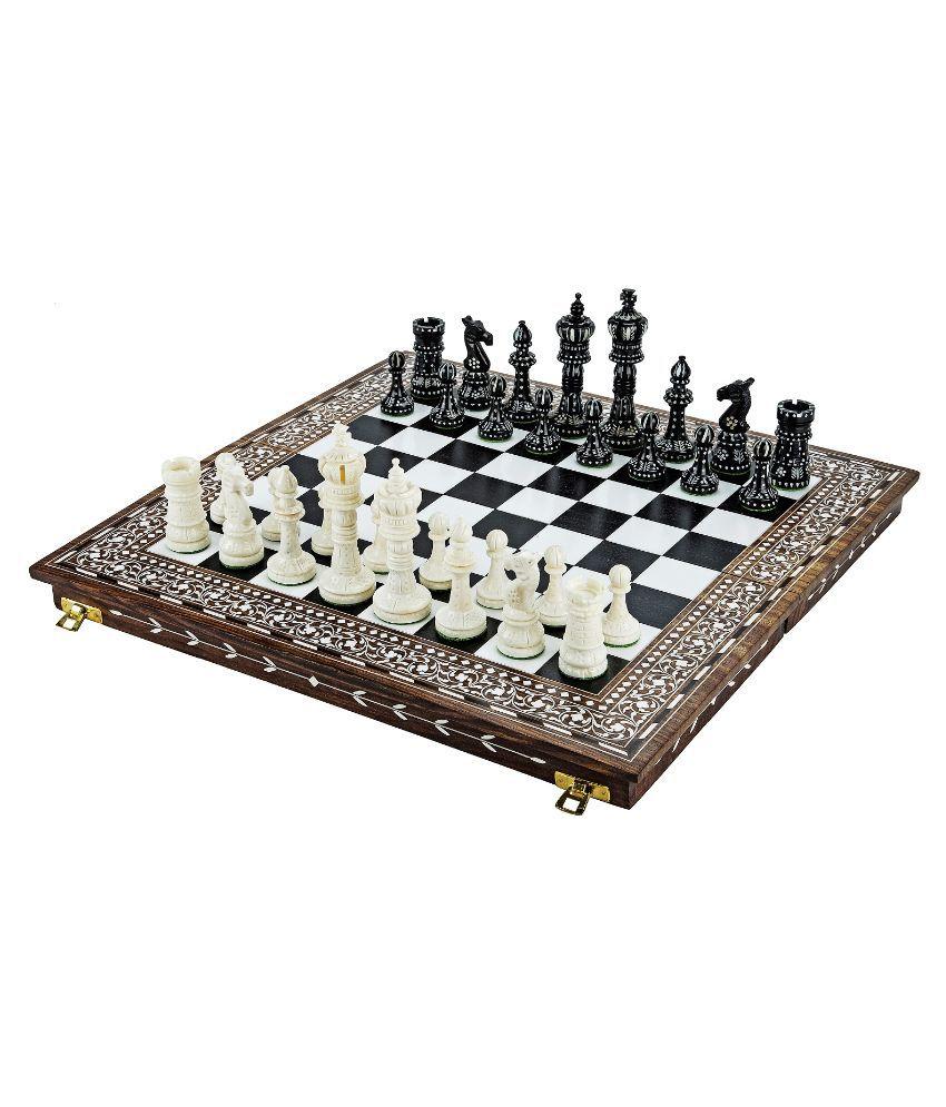 Chessncrafts Sheeshamwood Carving Chess Set