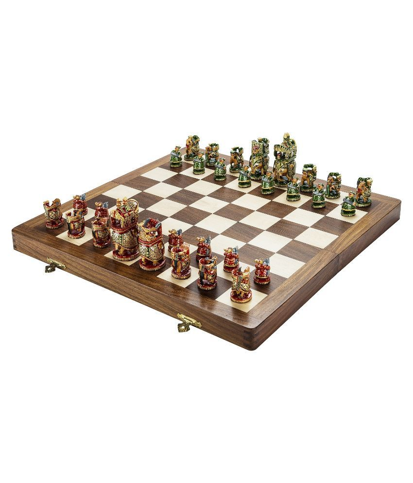 Chessncrafts Sheeshamwood Carving Chess Set