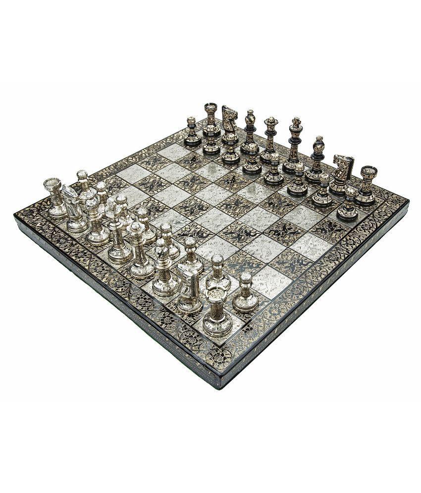 Chessncrafts Sheeshamwood Chess Set in Velvet Storage Box