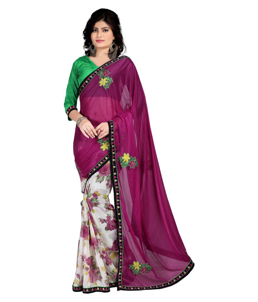 Karishma Purple Net Saree