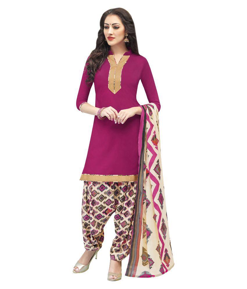 Mezona Multicoloured Crepe Straight Unstitched Dress Material