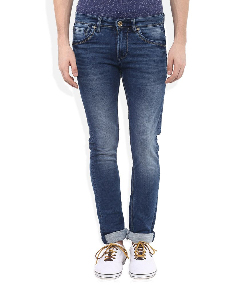 Killer Blue Skinny Fit Solid Jeans