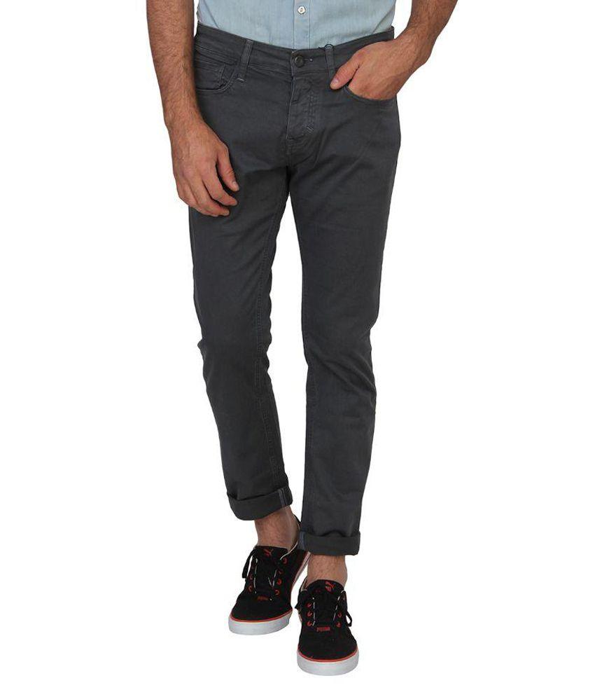 Calvin Klein Grey Slim Fit Chinos